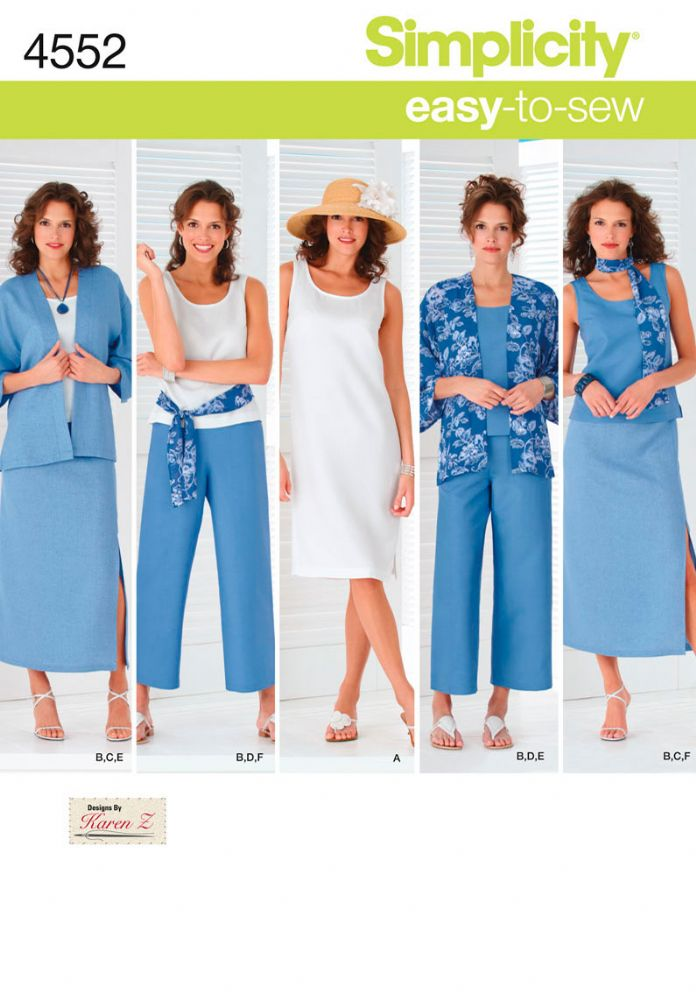 4552 Simplicity Pattern Misses and Plus Size Separates with Kimono ...